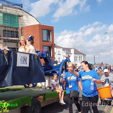 At Walton On The Naze Essex carnival procession August 2019