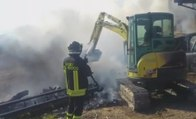 San Biagio di Osimo (AN) - Brucia legnaia in azienda agricola (19.08.19)