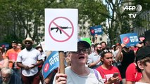 Anti-gun violence protesters rally in New York City