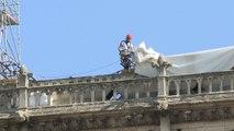 Les travaux de consolidation de Notre-Dame reprennent après avoir été interrompus le 25 juillet dernier