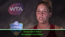 TENNIS: WTA Cincinnati: Madison Keys post-match interview