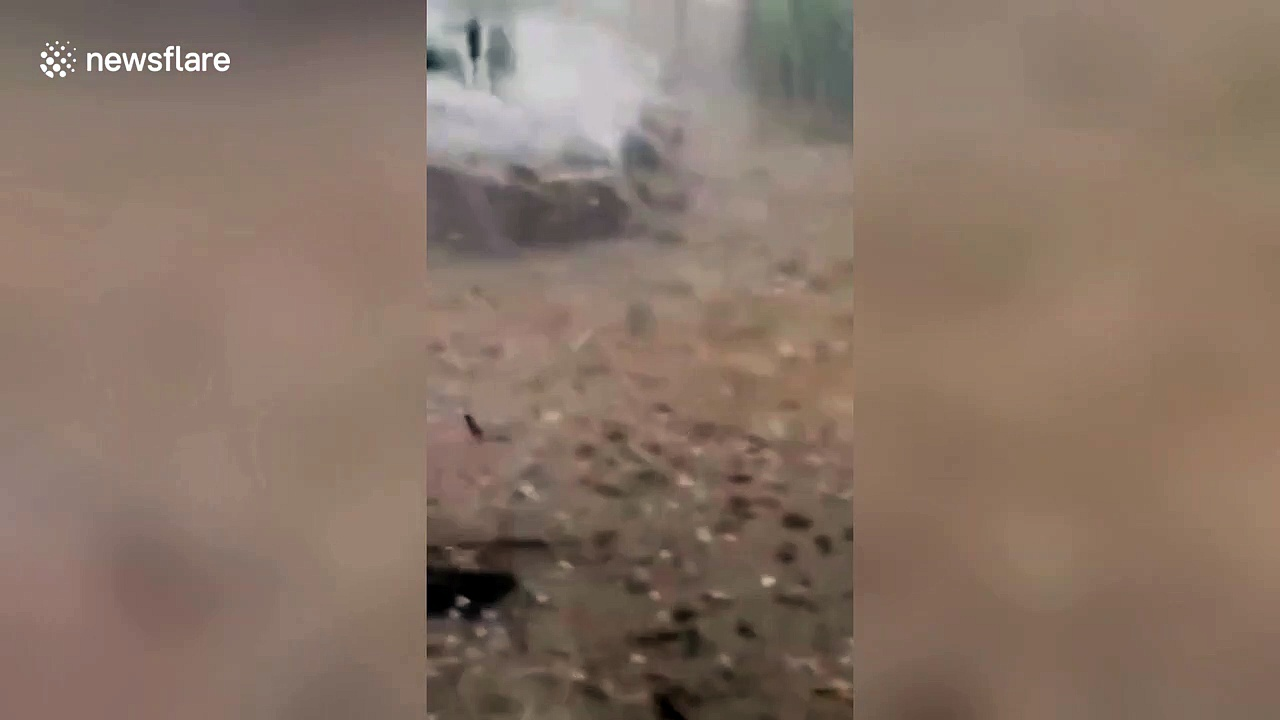 Powerful hailstorm hits Chinese city causing serious damage to local farms