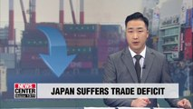Japan's trade balance posts deficit in July; exports to Korea down 6.9% y/y