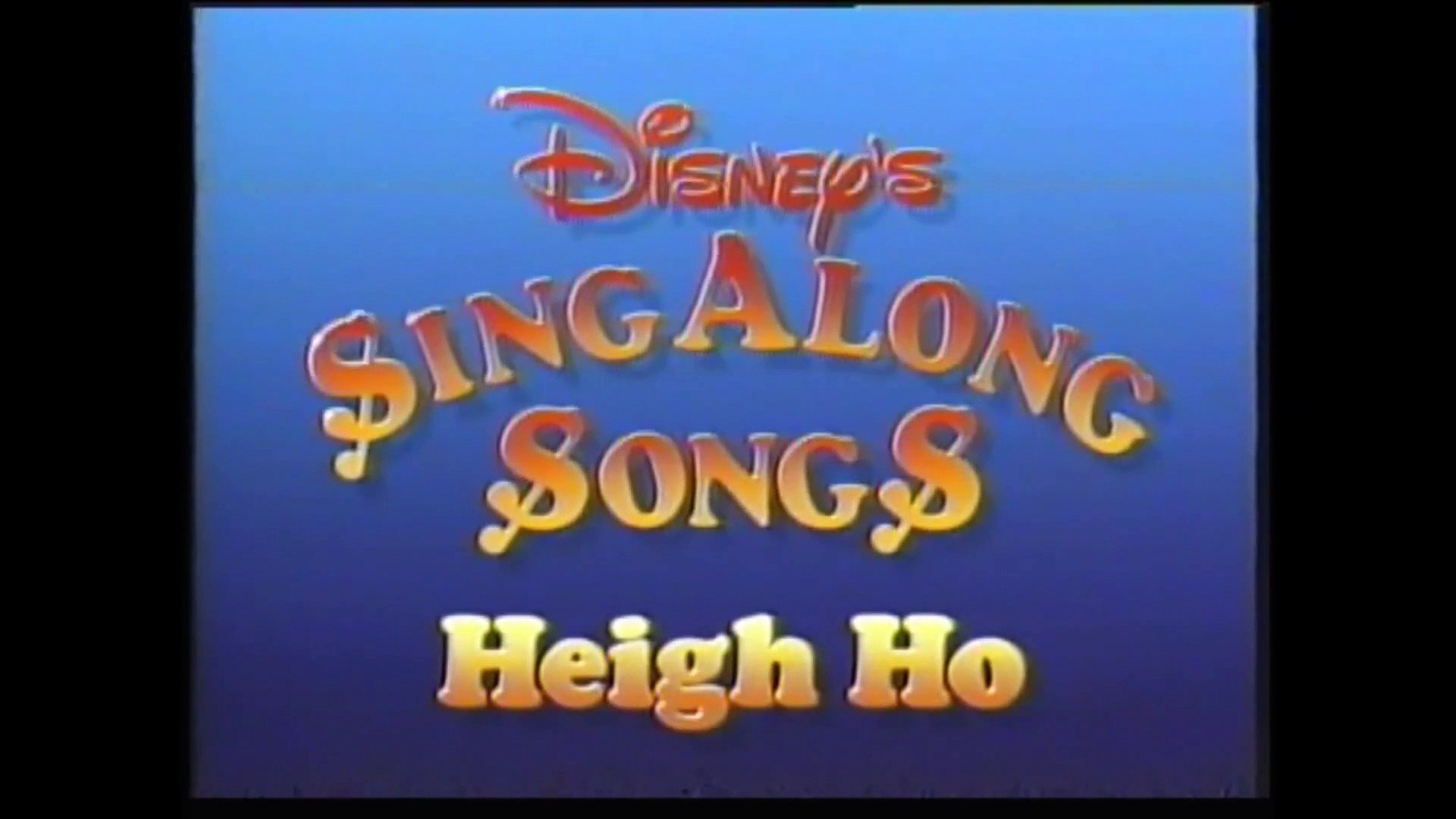 Disney Sing Along Songs Heigh Ho Video Dailymotion