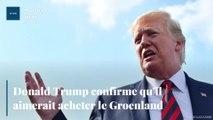 Donald Trump confirme qu'il aimerait acheter le Groenland