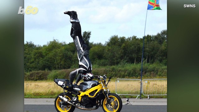 Must See! Stuntman Breaks World For Fastest Speed On Motorcycle...While Doing A Headstand!