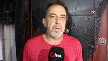 Gebze'de 60 evi tahliye ettiren yıldırımın düşme anı kamerada