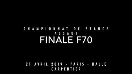 ASSAUT Finale France 2019 - F70 - RAGUIG Ilhame / CALVES CADIOU Margaux