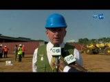 RTG/Le ministre des forêts de la mer d l'environnement sur les lieux des grumes du kenvazingo saisis