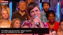 N'oubliez pas les paroles : Nagui taquiné par une candidate sur son âge (vidéo)