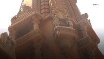 Footage shows historic Baron Empain Palace as restoration works near completion
