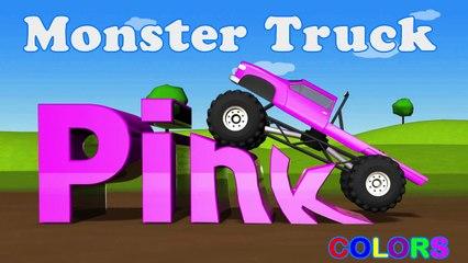 Learning Kids - Children lesson -Color Lessons For Kids With Monster Trucks - Learning Kids - Children Education - Pink Color - Monster Trucks - Learning Kids - Children Education -===)( (1)