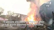 Firefighters extinguish flames after Uganda fuel truck blast