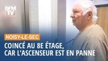 Noisy-le-Sec: coincé au 8e étage, car l'ascenseur est en panne
