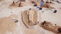 Giant sand sculptures bring fairy tales to life