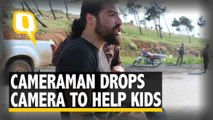 Syrian Photographer Drops Camera, Rescues Kids Hurt In Bomb Blasts