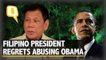Filipino President Rodrigo Duterte Regrets Abusing Obama