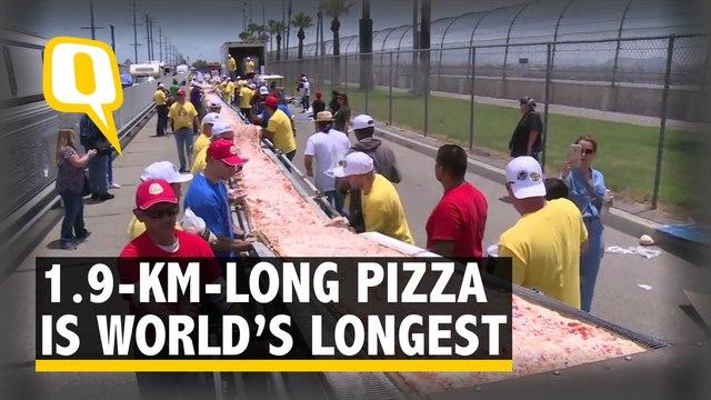 Californians Bake World's Longest Pizza Measuring 1.9 Km