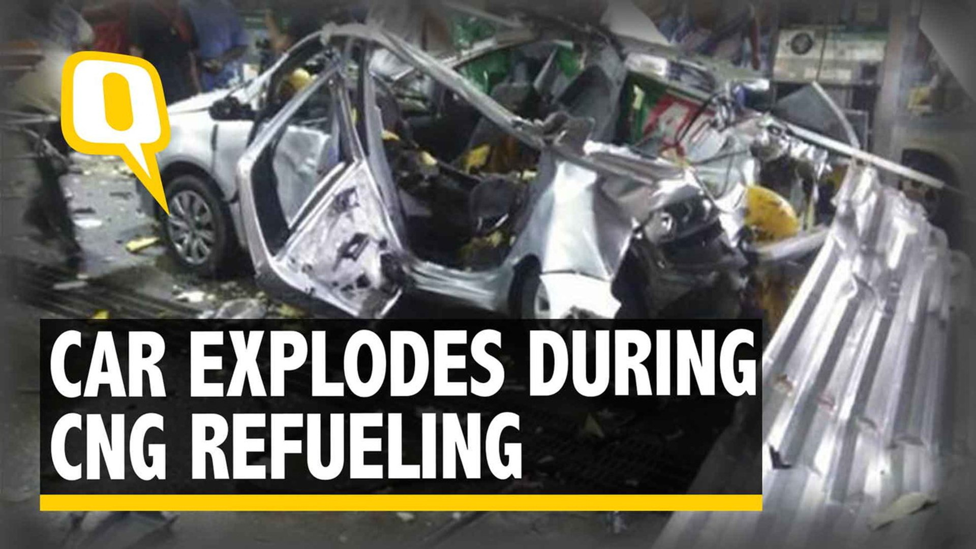 Car Explodes at CNG Station During Refueling, 1 Killed, 3 Injured