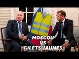 Vladimir Poutine évoque les gilets Jaunes devant Emmanuel Macron