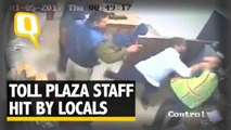 The Quint| Caught on Camera: Gurugram Toll Plaza Employees Thrashed by Mob