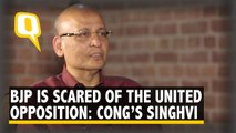 'BJP Is Scared Of The Opposition Uniting', Claims Congress Leader Abhishek Manu Singhvi