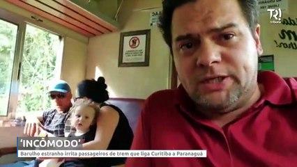 Barulho estranho irrita passageiros de trem que liga Curitiba a Paranaguá