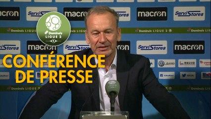 Conférence de presse AJ Auxerre - EA Guingamp (2-2) : Jean-Marc FURLAN (AJA) - Patrice LAIR (EAG) - 2019/2020