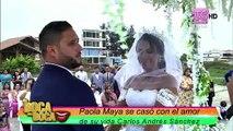 Así fue cómo Paola Maya dio sus votos: con lágrimas y vestida de novia