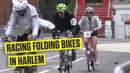 Racing the Brompton World Championship USA in Harlem