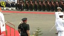 Prime Minister Narendra Modi arrives at Red Fort, for Independence Day address
