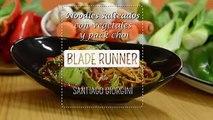 """Noodles con vegetales y pack choi de la película """"Blade Runner"""", por Santiago Giorgini"""