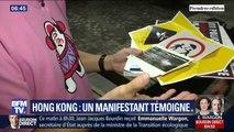 À Hong Kong, ce manifestant pro-démocratie prend un risque en témoignant, il nous explique pourquoi il se mobilise
