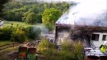 Spectaculaire incendie en cours dans une habitation à Bar-le-Duc