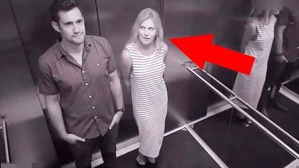 10 WEIRD ELEVATOR MOMENTS CAUGHT ON CAMERA