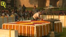 Arvind Kejriwal Pays Tribute At Rajghat on 150th Birth Anniversary of Mahatma Gandhi