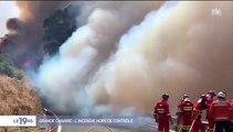 Découvrez les images spectaculaires de l'incendie toujours hors de contrôle qui touche l'île espagnole de Grande Canarie depuis samedi