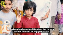 Azad Had the Cutest Reaction After Watching Aamir Khan's 'Thugs'
