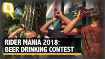 Beer Drinking Contest at Rider Mania 2018 | The Quint