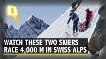 With Twists and Turns, Two Skiers Race 4,000m in Swiss Alps