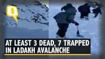 Three Dead and Seven Trapped Under Snow in Ladakh's Khardung La