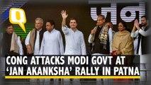 Congress Attacks Modi Government Over Rafale, Farmers' Issues & More in Patna