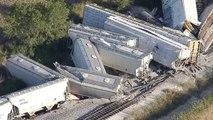 Déraillement spectaculaire d'un train au Texas