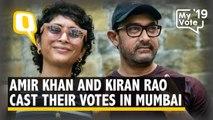 Actor Amir Khan Casts His Vote