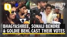 Bhagyashree, Sonali Bendre and Goldie Behl Cast Vote in Mumbai