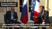 Brégançon: cordialité affichée entre Poutine et Macron