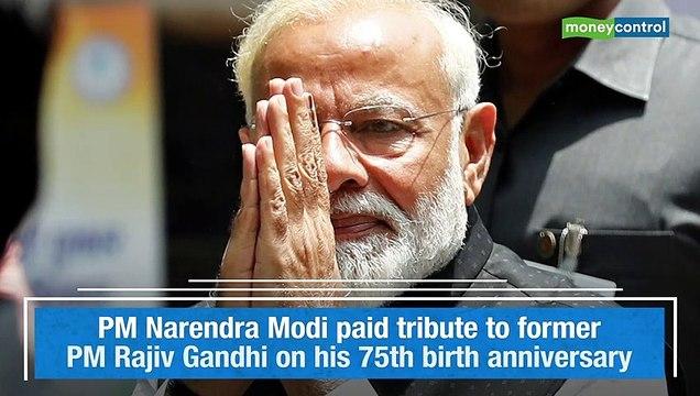 PM Narendra Modi pays tributes to Rajiv Gandhi on his birth anniversary
