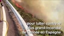 Incendie à Grande Canarie: hélicoptères et avions larguent de l'eau