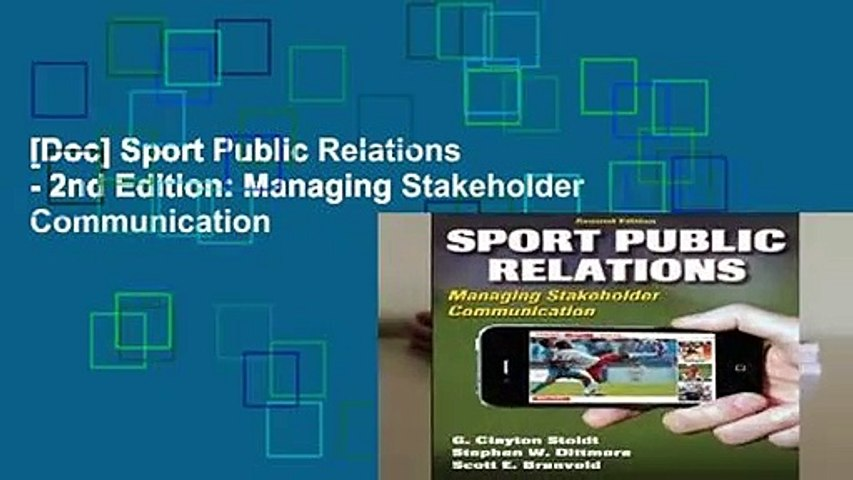 [Doc] Sport Public Relations - 2nd Edition: Managing Stakeholder Communication