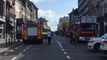 Schaerbeek : incendie Chaussée de Louvain (vidéo Germani)